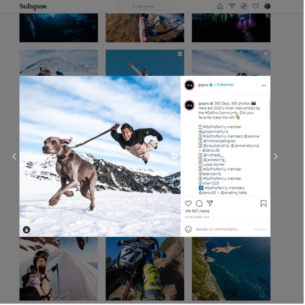 GoPro sur Instagram
